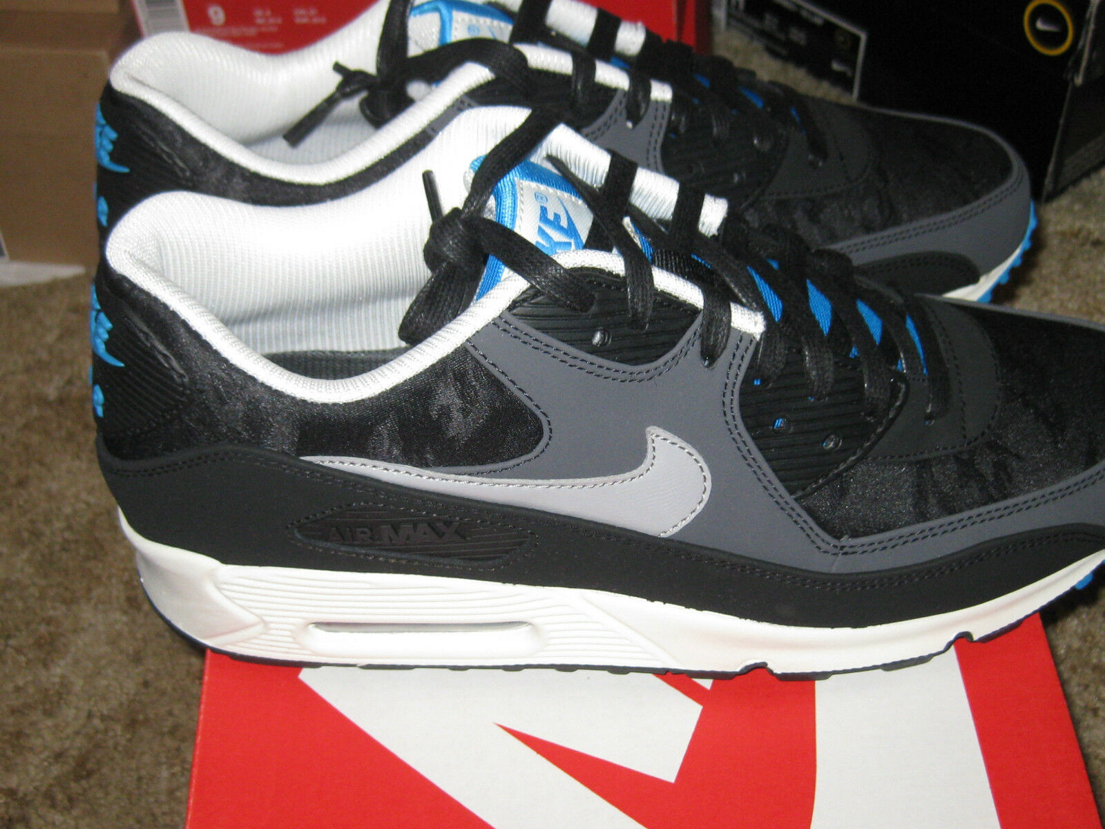 Nike Air Max 90 Premium 333888 021 Mens scarpe Dimensione  42.5 44 US 9 UK 9 NUOVO  comprare sconti