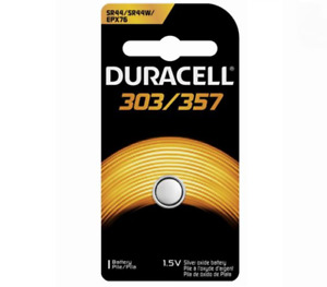 9 x Duracell LR44 SR44 303 357 76A EPX76 SILVER OXIDE BUTTON CELL BATTERY 1.5V