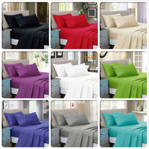 1000-TC-Ultra-SOFT-Luxury-Flat-amp-Fitted-Sheet-Set-Queen-King-Super-Size-Bed-New