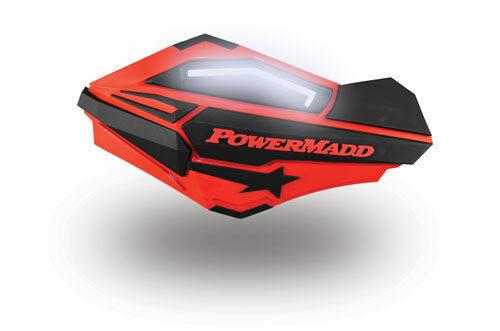 Powermadd Sentinel LED Handguards White Blue Mount Ski Doo Hayes Snowmobile