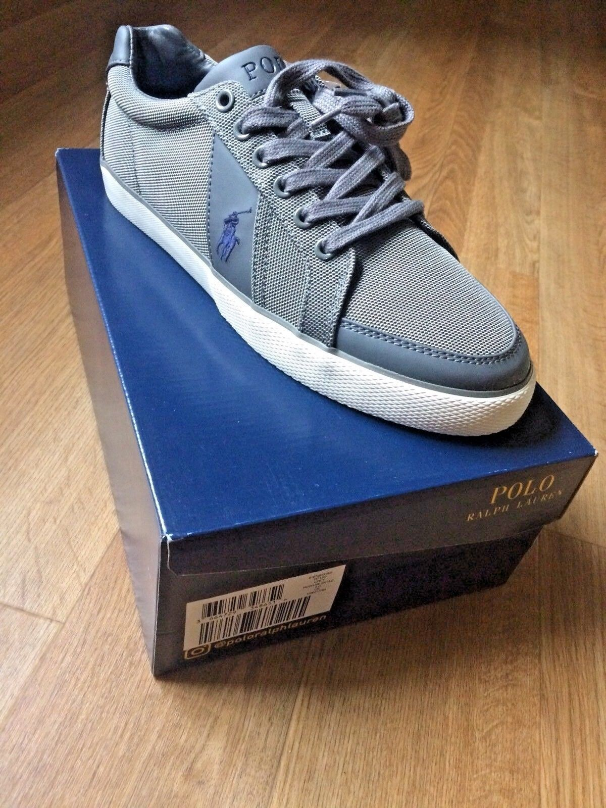 Ralph Lauren Polo Grey Hugh shoes Trainers Brand New In Box BNIB