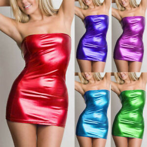 440ddc2ebc77 Image is loading Women-Sexy-Sleeveless-Dress-Tight-fitting -Clubwear-Stripper-