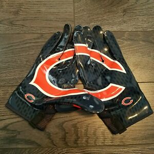147acbe1e Details about NIKE Vapor Knit NFL Chicago Bears Receiver Gloves Orange  PGF397-061 Size 3XL