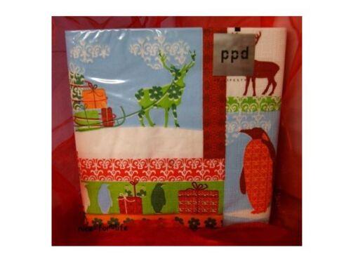 20 Motiv Servietten 33x33 ppd  Winter Dreams Rentier Hirsch Pinguin Weihnachten