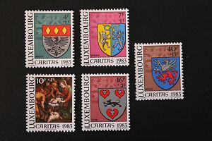 Briefmarken / Briefmarke Luxemburg Yvert und tellier Nr.1036 à 1040 N (cyn10)