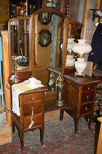 Gorgeous Antique Edwardian Ladies Dressing Table Vanity