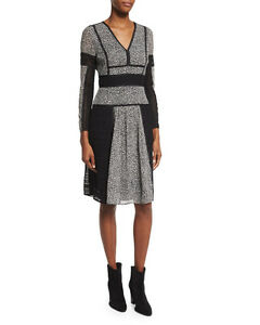 2104595e958ad Image is loading Burberry-London-Lace-And-Leopard-print-Panelled-Silk-
