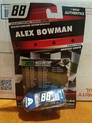 Daytona Special Edition Alex Bowman 88 Axalta 2019 Series Schedule Insert 1 64 Scale Diecast