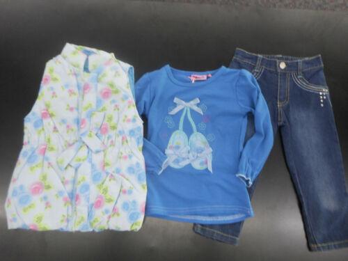 18//24M Shirt Infant Girls Titicos Babies 3pc Pink Vest /& Jeans Sizes 12//18M