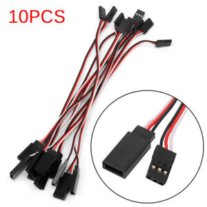 10pcs-10cm-Quadcopter-Servo-Extension-Lead-Futaba-JR-Male-To-Male-Wire-Cabl-J-Y4