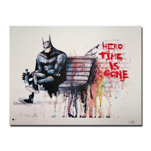 banksy graffiti art batman hero canvas posters prints 8x11 20x27