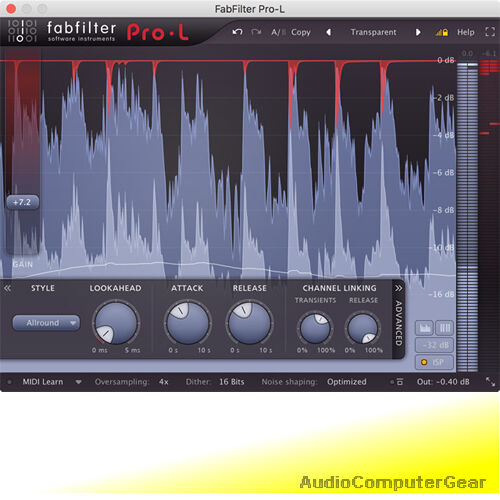 FabFilter PRO-L 2 Brickwall Limiter Fab Filter Audio Software Plug-in NEW