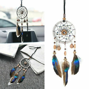 Dream Catcher Beaded Car Wall Hanging Bead Ornament Feathers Mini Decoration US