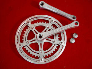 Vintage-Silstar-SR-Crank-Set-165-mm-Alloy-Steel-Square-Tapered-52-40-Used