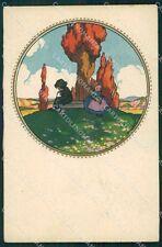 Castelli Children Degami serie 1066 postcard cartolina QT6612