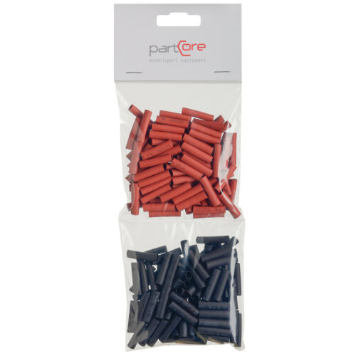 Schrumpfschlauch Set 100-teilig 5 x 25 mm rot schwarz partCore 110045