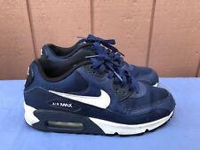 EUC Nike Air Max 90 Mesh GS US 5.5Y EUR 38 Sneaker Blue White 724824 004 A4