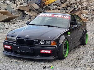 """Fender flares for BMW 3 e36 wide body kit JDM wheel arches ABS 3.5"""" 90mm 4pcs"""