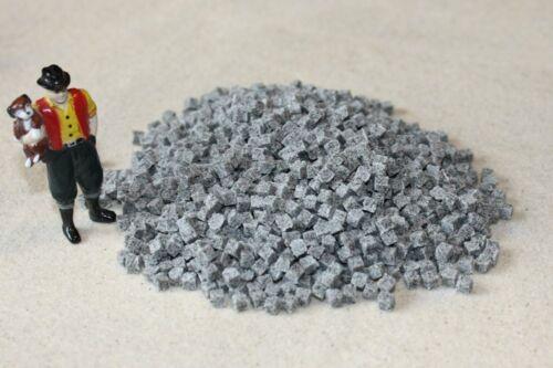 1500 Pflastersteine grau Granit Spur 0 Maßstab 1:45 auch Spur 1 Zubehör Ladegut