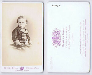 Details About Cdv Child With Toy Boat Carte De Visite By Boning Small Of St Leonards On Sea