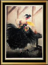 Louis Icart Authentic ETCHING Original Hand Signed Deco Artwork Carmen Portrait