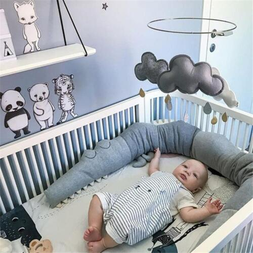 185cm Baby Infant Crocodile Pillow Cotton Cushion Kids Bed Crib Bumper Protector