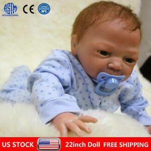 22 Reborn Dolls Newborn Baby Silicone Vinyl Real Baby Boy Doll Gift Clothes Ebay