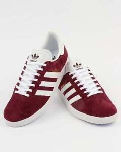 burgundy adidas gazelles