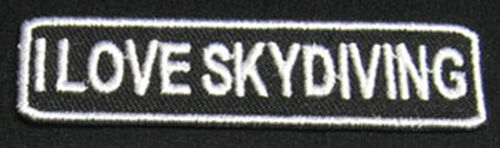 I LOVE SKYDIVING Patch//Badge for Skydive T-Shirt Hat Cap Bag Container Rig 25P