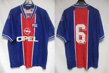 Maillot porté PARIS PSG n°6 Nike Premier match worn shirt 1995 1996 vintage XL
