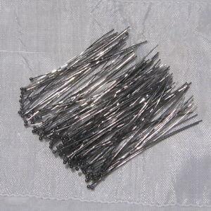Lot-de-100-tiges-clous-boule-bille-50mm-x-0-5mm-5cm-gunmetal-sans-nickel-U31