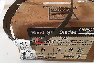"""Sandvik 3850 Sandflex Dragon Matrix II 7/' 9/"""" X 3//4/"""" X .035/"""" 6//10 T  Band Saw"""