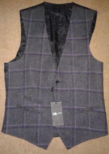 48 Tartan Pal Medium Zileri Wool 00 gt;rrp Italian Lab Virgin £425 Waistcoat Rqd48w4Ix