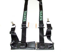 "Takata DRIFT II 4 Point Bolt-On 2"" Racing Seat Belt Harness (Black)"