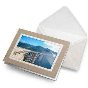 Greetings-Card-Biege-Bixby-Bridge-California-USA-3105