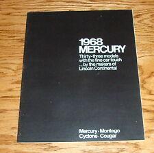 Original 1968 Mercury Full Line Sales Brochure 68 Cougar Cyclone Montego