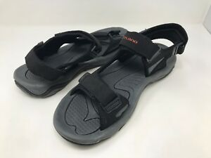 New! Men's Outland S6036MBR Tracker II Sport Sandals Black/Red B42