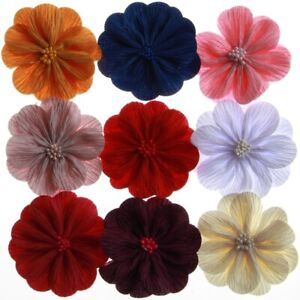 50PCS-3-2-034-8-2CM-Newborn-Satin-Fabric-Flowers-With-Match-Stick-Center