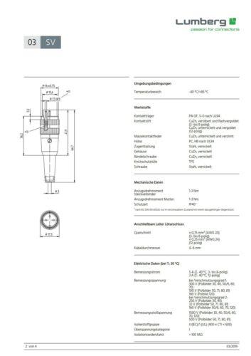 Lumberg SV60 Rundsteckverbinder 6polig Stecker Schraubverschluss 860306