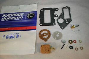 New-Johnson-Evinrude-OEM-Outboard-9-5-Carb-Kit-w-Float-382048-BRP-OMC-Carburetor