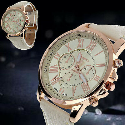Men Women Geneva New Fashion  Analog Stainless Steel Quartz Wrist Watch
