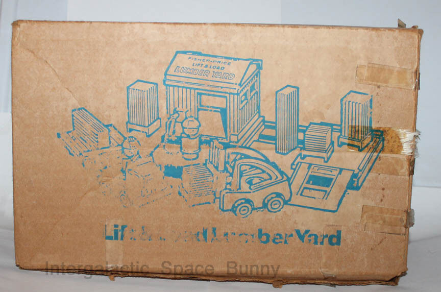 1979 Fisher Price Little People Lift & Load Lumber Yard 944 Mail Away Box