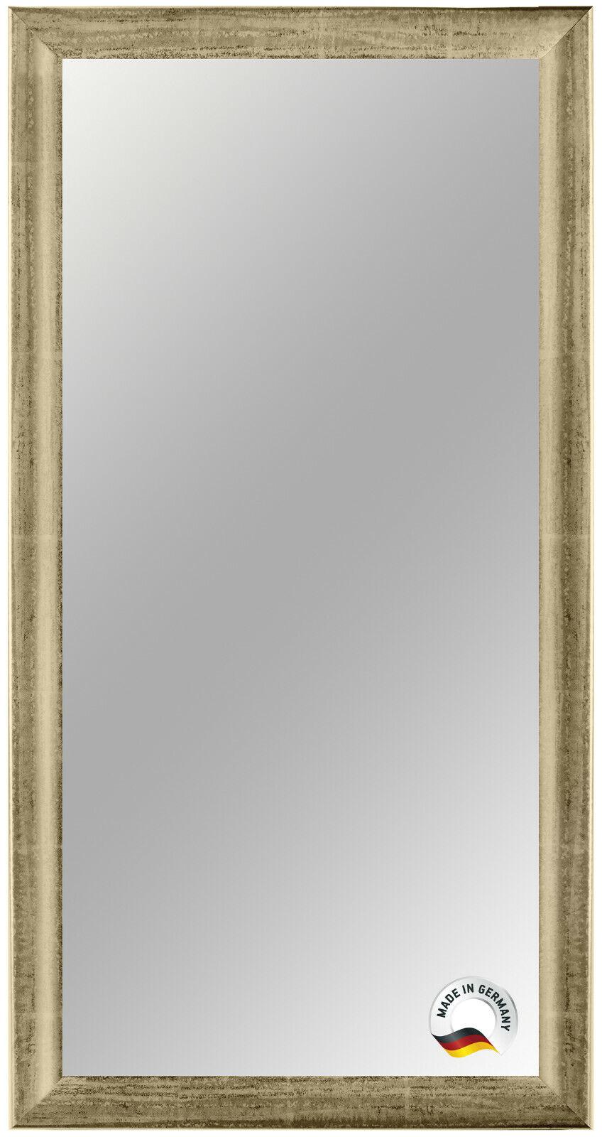 Spiegelrahmen nach Maß - Beige Silber - Spiegel Wandspiegel Badspiegel Bad Flur