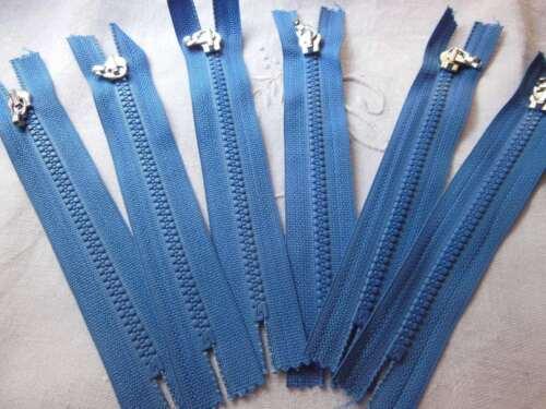 séparable  A14 lot 6 fermetures éclairs bleu 15 cm non