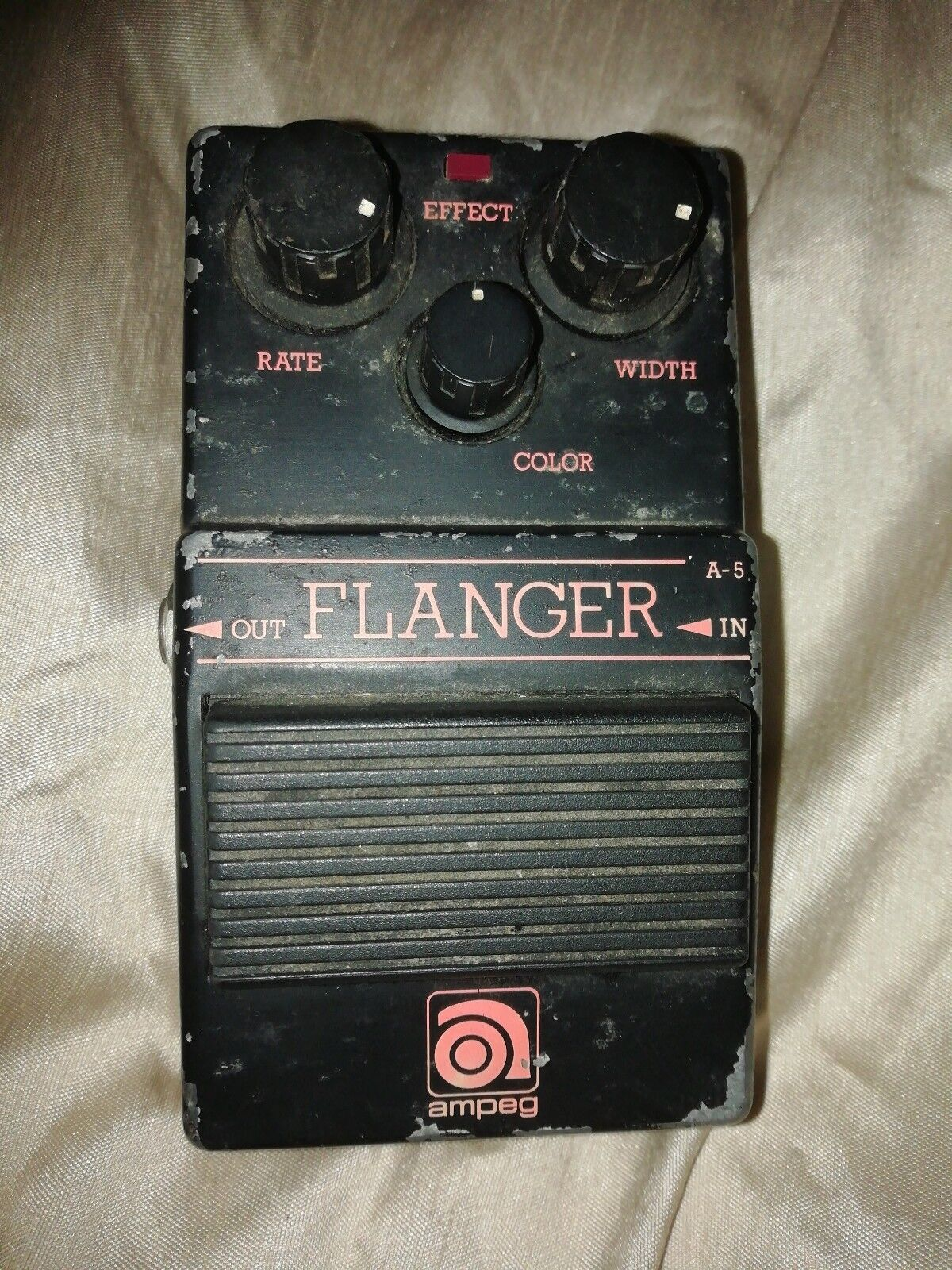 Guitar Pedal Ampeg A Series Flanger. Very Rare Made In Japan 1980s WORKING.