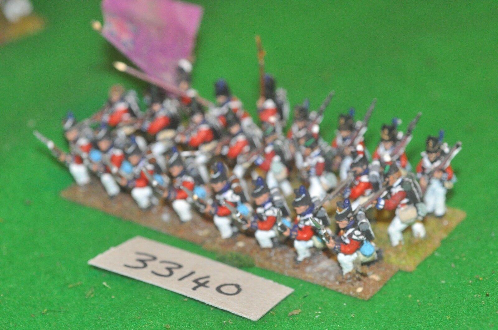 25mm napoleonic   british - regt 24 figures - inf (33140)