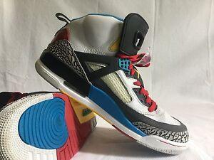 pretty nice 1c35d 7b27d Image is loading Nike-Air-Jordan-Spiz-039-ike-Neutral-Grey-