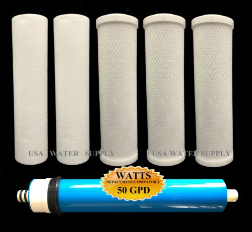 Watts Premier WP4-V 50 GPD Annual Filter Bundle with 560018 Membrane