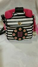 Betsey Johnson Sequin Tartan Answer Me Telephone Phone Crossbody Bag