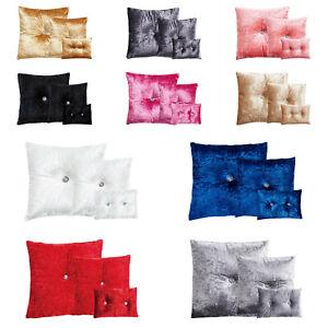 Crushed-Velvet-Diamante-Lleno-Cojines-Sofa-Cama-Decoracion-del-hogar-3-Tamanos-10-Colores